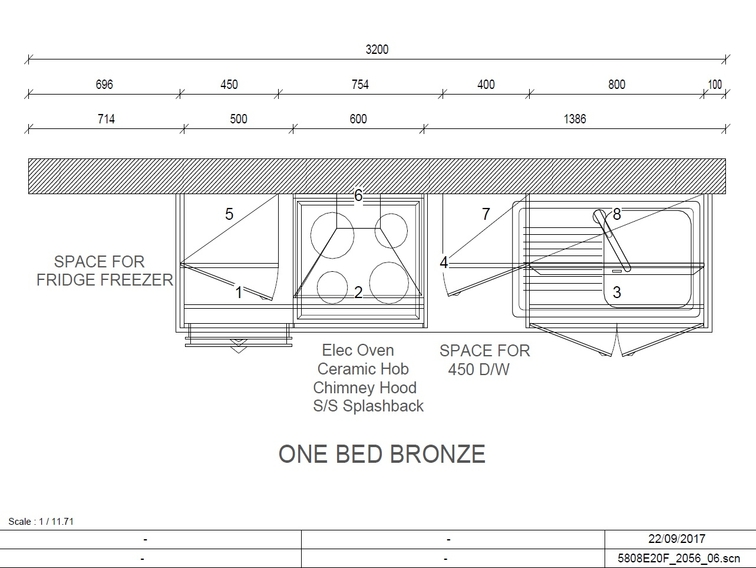Bronze Collection One Bed Plan