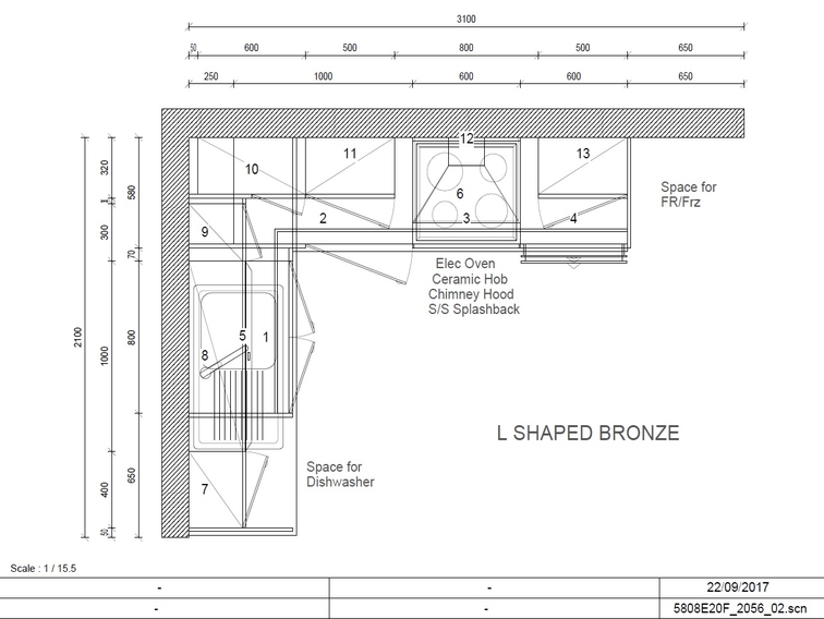 Bronze Collection L Shaped Plan