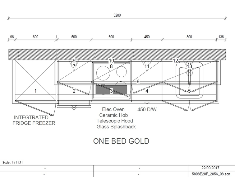 Gold Collection 1 Bed Plan